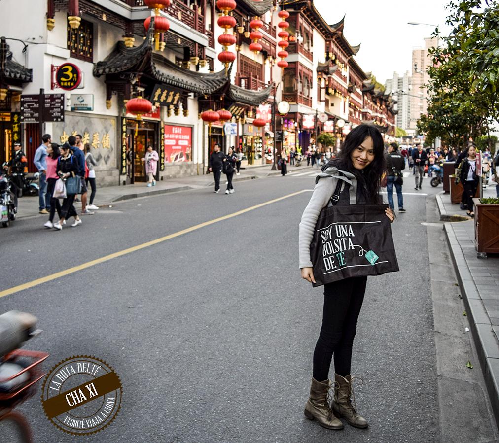 En Shangai, Nana con nuestra Tea Bag