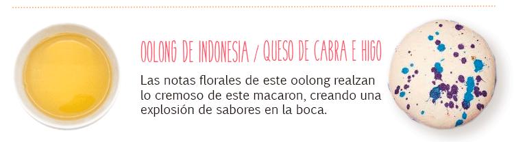 Maridaje con té oolong ligero orgánico de Indonesia