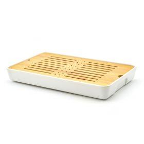 Base rectangular blanca