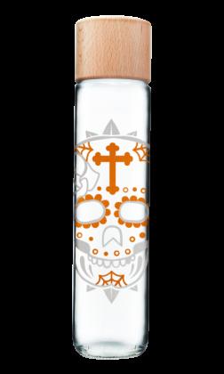 Botella Calavera plata / oro
